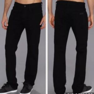 JOE'S JEANS THE BRIXTON BLACK STRAIGHT NARROW 28